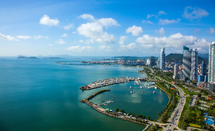 Aerial View of Casco Viejo in Panama