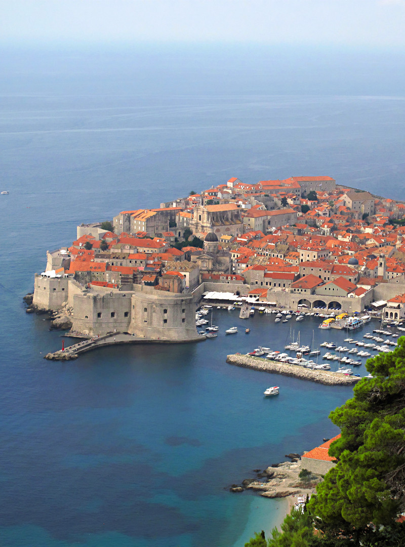 View on The Old Town of Dubrovnik, Croatia
